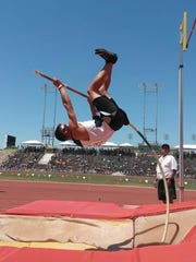 Senior Gabriel Newsome took third place in the pole vault at state.
