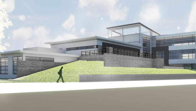 A rendering of the Richardson Design Center. Construction started on the building this month, with a planned opening date in early 2019.
