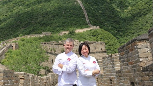 Susanna wong-Burgess and Guy Burgess on The Great Wall of China