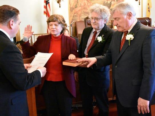 Union County Freeholder Bette Jane Kowalski is sworn