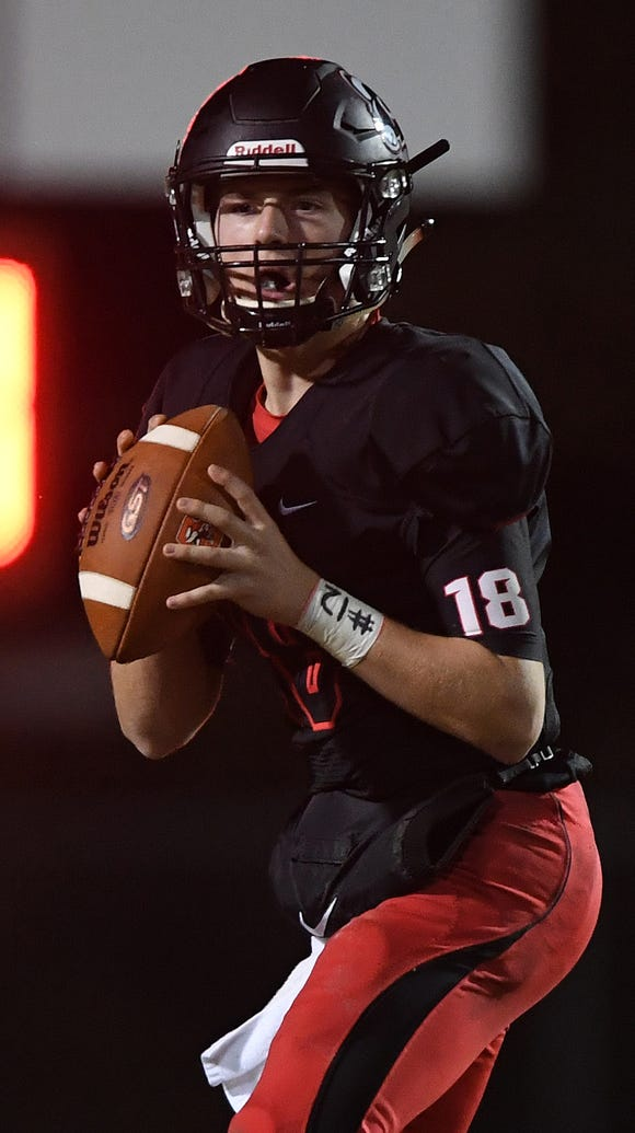 Hillcrest's Will Watts (18) threw for 3,209 yards and