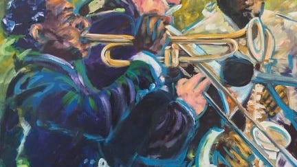'Jazz Players,' by Cris Reverdy, will be part of the upcoming'Eclectic' exhibit at the center.
