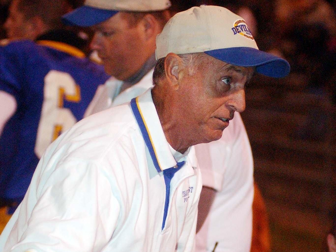 """George Harrelson has been a coach for the past 44 years, including 40 at the high school level. He will be honored at Saturday's FCA jamboree at North Greenville University as a """"Coach of Influence."""""""