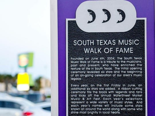 South Texas Music Walk of Fame will induct six new members Saturday, June 3, 2017.