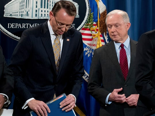 Attorney General Jeff Sessions and Deputy Attorney
