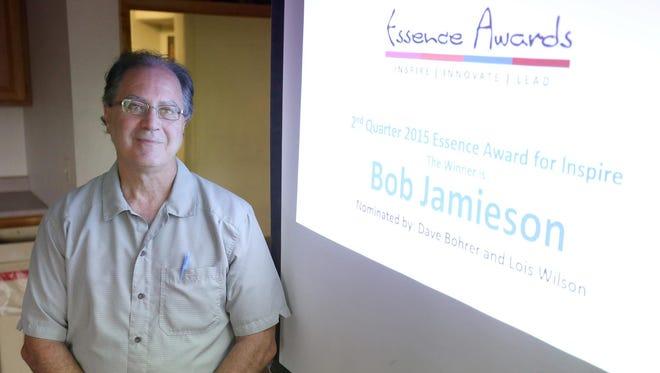 Elmira Star-Gazette reporter Bob Jamieson was recognized with a Second Quarter Essence Award for Inspire on Tuesday.