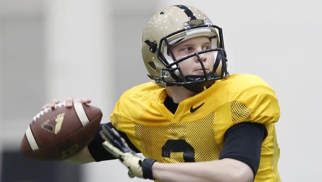 FILE – Quarterback Elijah Sindelar will compete with David Blough for Purdue's starting job.