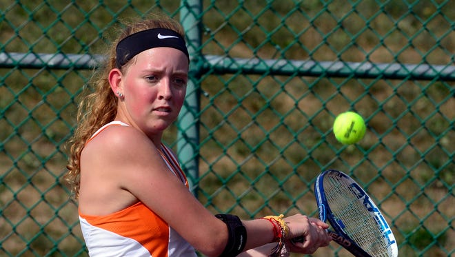 York Suburban's Samantha Clancy pulled off an upset on Thursday in the York-Adams League Girls' Tennis Tournament Class AA singles action. Clancy beat No. 7 seed Brianna Miller of Kennard-Dale in the second round, 7-5, 6-2.