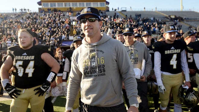 Derek Rang posted a 32-8 record in three seasons at Class 1A Dresden, including a perfect 15-0 campaign in 2016 that was capped with the school's first state football title.