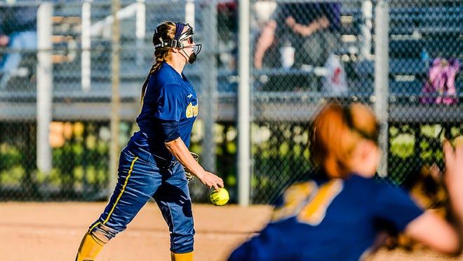 Emily Songer's contributions at the plate and as a pitcher have played a part in another strong season for Grand Ledge softball.