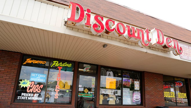 Discount Den Tuesday, May 23, 2017, in the Chauncey Hill Mall.