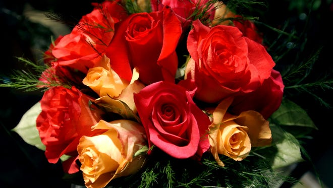 An arrangement of roses by McNamara Florist.