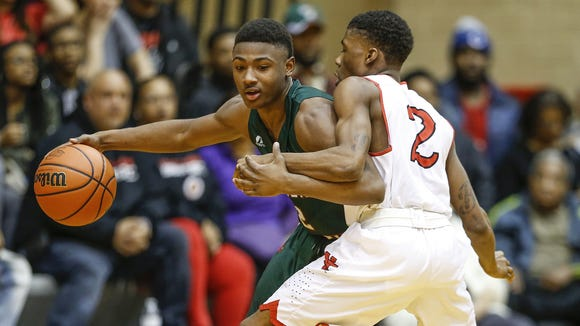 Antwaan Cushingberry (left) is transferring from Lawrence North to Warren Central for his senior year.