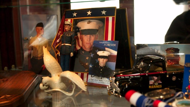 Photos and memories of Marine Cpl. Marc Ryan, a Gloucester City man killed in Iraq in 2004.