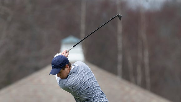 CBA;s Jack Wall off the tee during the Monmouth County