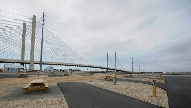 The newly reopened Indian River Inlet Campground is shown Friday.