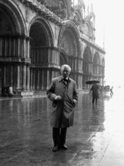 Louis Kahn during a trip to Venice, January 1969.