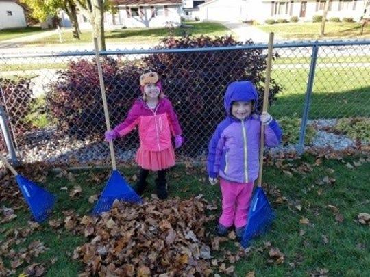 Preschoolers including Aleyah Brockway and Autumn Supple