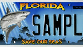 Save Our Seas license plate