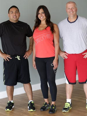 Post-Crescent Media sports journalists Mike Sherry (right) and Ricardo Arguello (left) have been working with trainer Maria Munoz for 14 weeks.