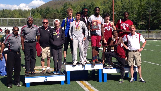 The Asheville High boys track team won Saturday's 3-A Western Regional meet at Reynolds.