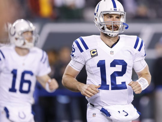 With Luck on the mend, backup Scott Tolzien (16) has