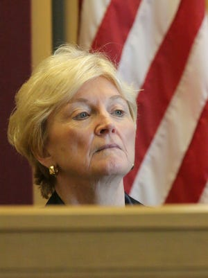 Wisconsin Chief Justice Patience Roggensack during an appearance in Sheboygan earlier this month.