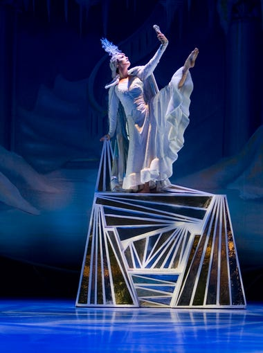 Amber Robins as the Snow Queen in the opening of Center