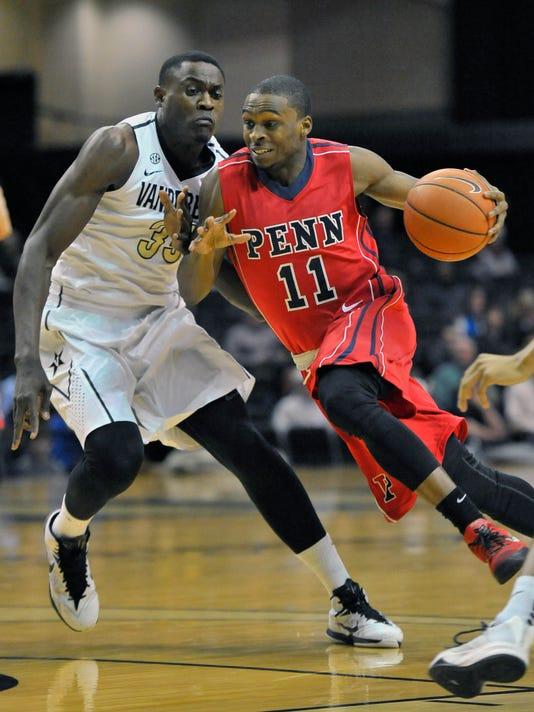 NCAA Basketball: Pennsylvania at Vanderbilt
