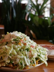 The Topopo Salad is on display at El Azteco in East Lansing, April 16, 2008.