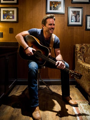 Charles Esten poses in his dressing room at the Grand Ole Opry in Nashville, Tenn., Saturday, July 15, 2017.