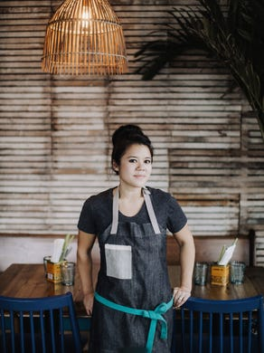 At Hai Hai, owners Christina Nguyen (pictured) and Birk Grudem cook up Vietnamese street food, occasionally utilizing recipes from Nguyen's grandmother.