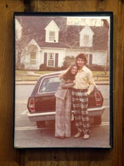 Pat Verange, owner of The Red Store in Middletown, a mainstay on the corner of Navesink Avenue and Monmouth Road, has a 1974 photo of himself and his sister-in-law, Peggy Verange, hanging on the wall as he talks about the closing of the business at The Red Store in the Navesink section of Middletown, NJ Tuesday May 1, 2018.