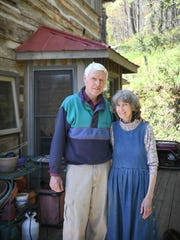 Clark and Mary Floyd moved to their home in Leicester in 1994. It was once just a single-room cabin that was built in 1888 but a kitchen was added in the 1970s and an additional cabin was moved to the site in Virginia when the couple moved in. They operate her cat rescue, MaryPaws, from the property.