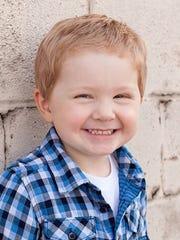 Wyatt Scharenbroch, 3, of Kimberly fell into a grease