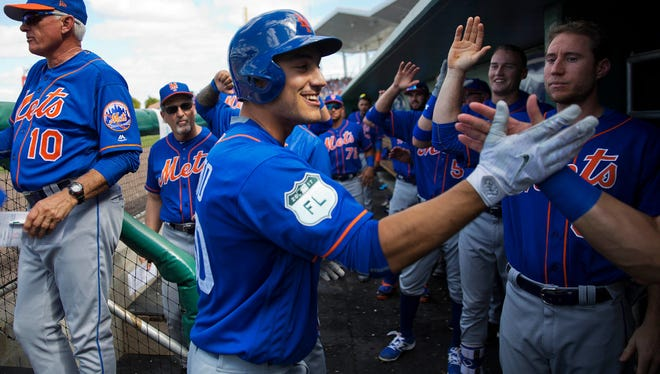 Michael Conforto after homering Friday against Boston.