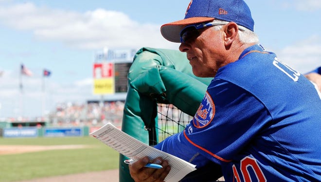 Terry Collins during a game earlier in camp.