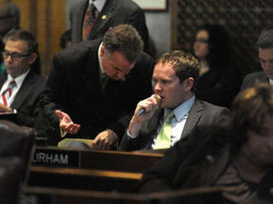 Tennessee Rep. Jeremy Durham, right.