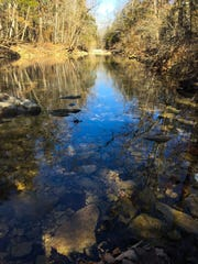 The east fork of Roark Creek near Branson is a tributary stream that eventually flows into Table Rock Lake.