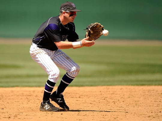 Hardin-Simmons' Taylor Cooling (11) fields a ball during
