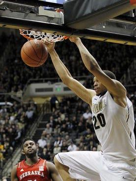 Purdue senior center A.J. Hammons is one of 20 players on the Kareem Abdul-Jabbar Center of the Year Award watch list.