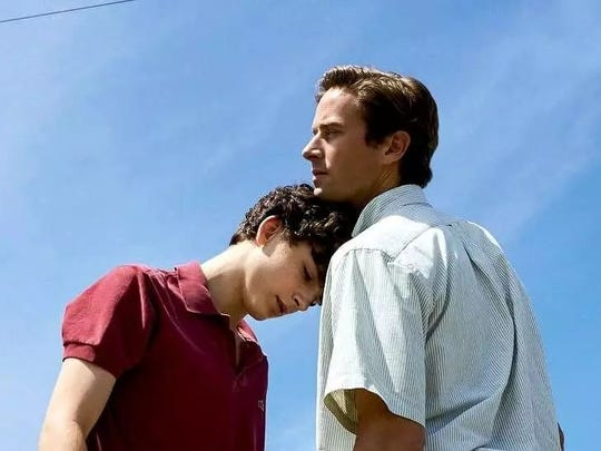 """Timothee Chalamet and Armie Hammer in """"Call Me By Your Name"""""""