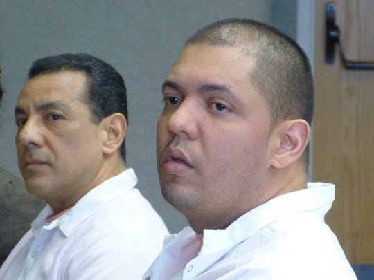Jose Luna, left, and Felix Ayala, both of Shingletown, are shown in Superior Court during one of their many hearings.