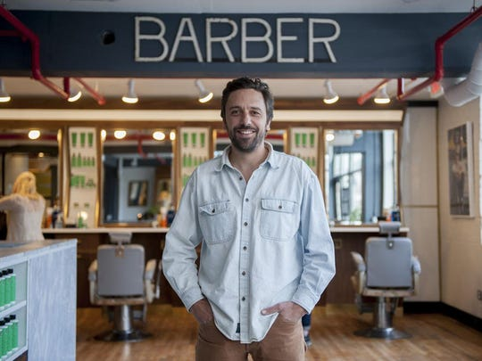 Co-owner Sam Buffa's Fellow Barber in Midtown Detroit will offer upscale services and a bar when fully operational.