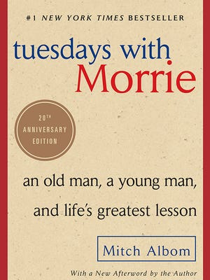 "The 20th anniversary edition of ""Tuesdays With Morrie"" will be published Tuesday."