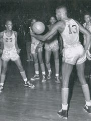 Willie Gardner showed his Attucks teammates his ball-handling skills.