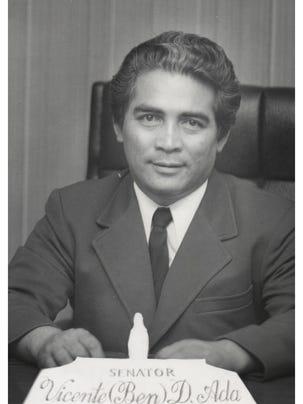 """Vicente """"Ben"""" Ada, as a Republican senator in the 12th"""