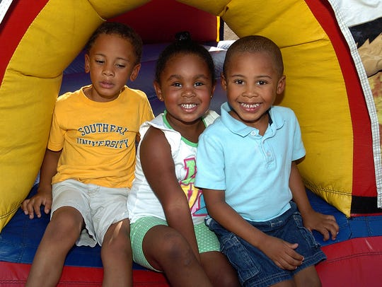 Children party with OPD Tuesday evening.