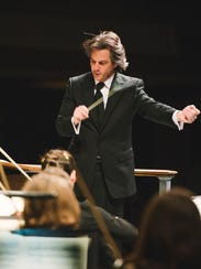 Daniel Meyer conducts the Asheville Symphony in the