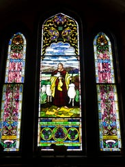 Original stained glass can be found throughout the